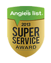 Angies List Super Service Award Winner 2013