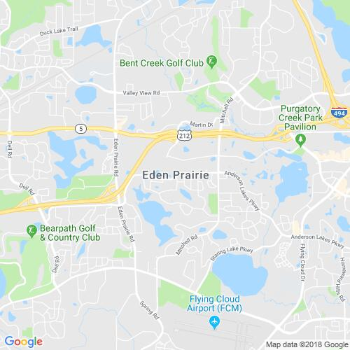 Map of Eden Prairie, MN